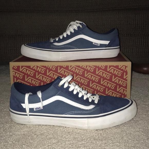Blue vans old skool pro shoes